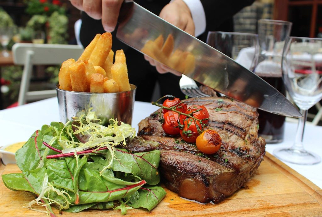 Bleeding Heart French Restaurant is a great place to eat in london
