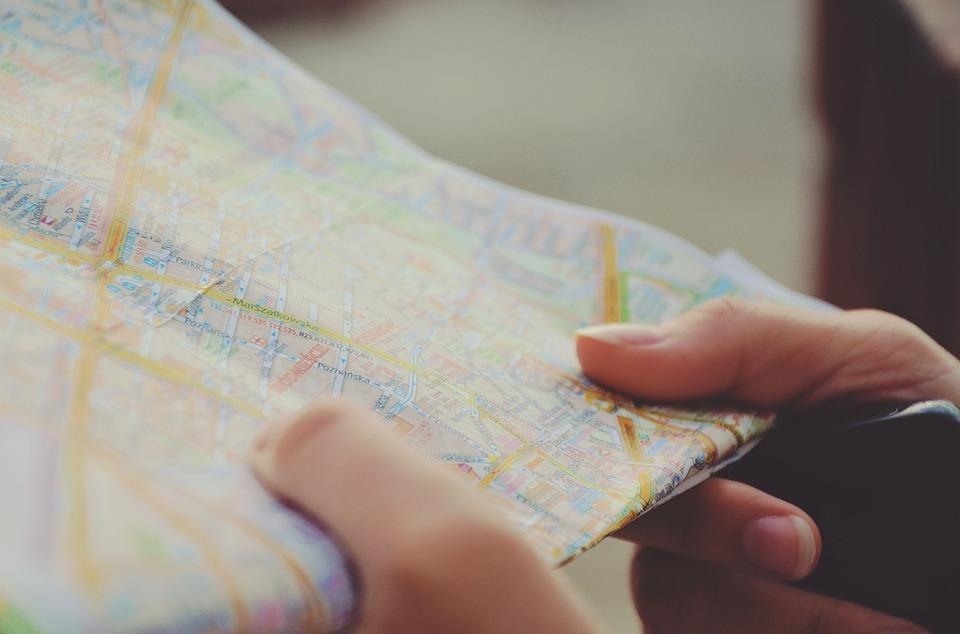 pre-departure map
