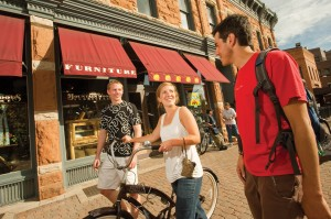 Max Dillon meets CSU classmates in Old Town Fort Collins