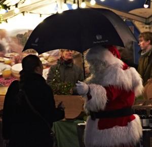 Santa in the rain, Newcastle