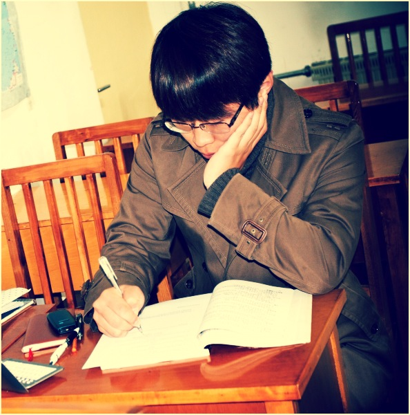 Filter - male student studying