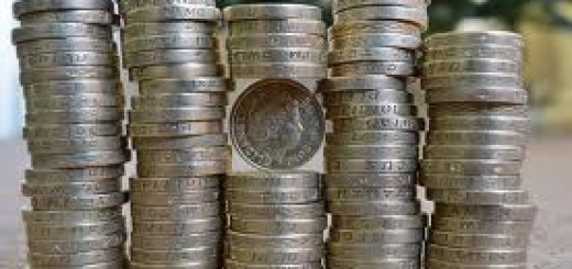 Piles of pound coins