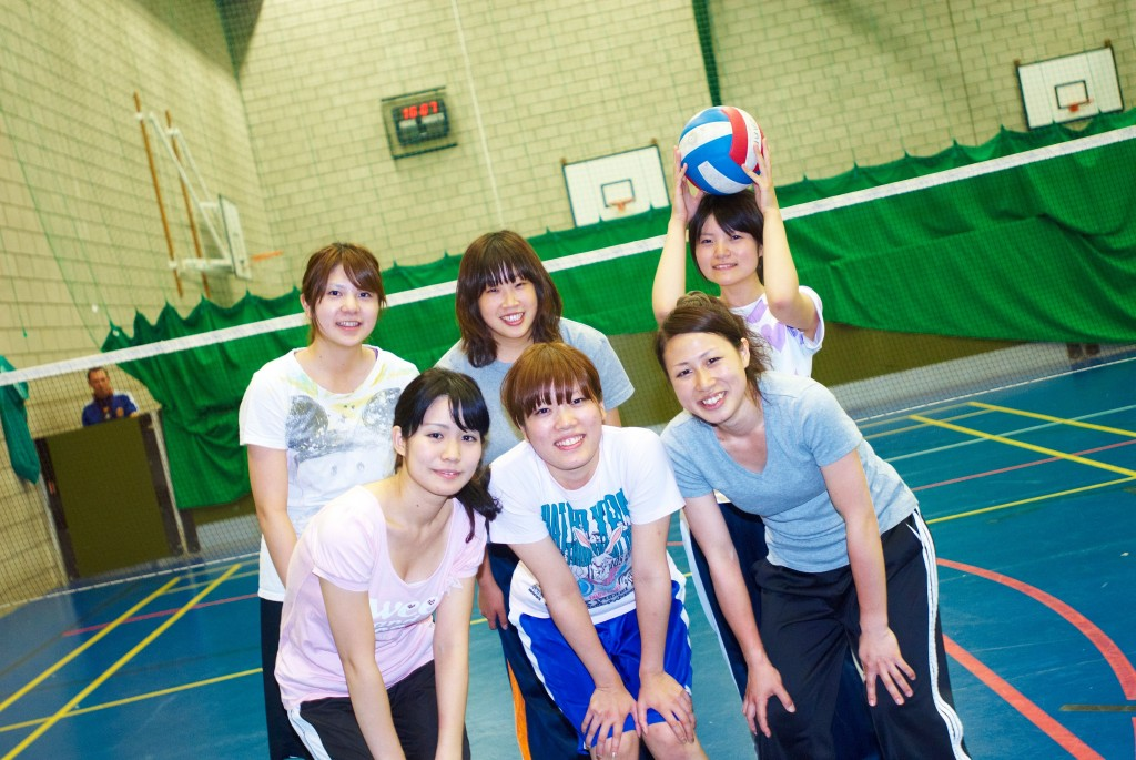 Students playing sports