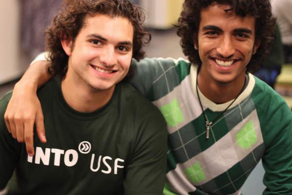 Two guy friends