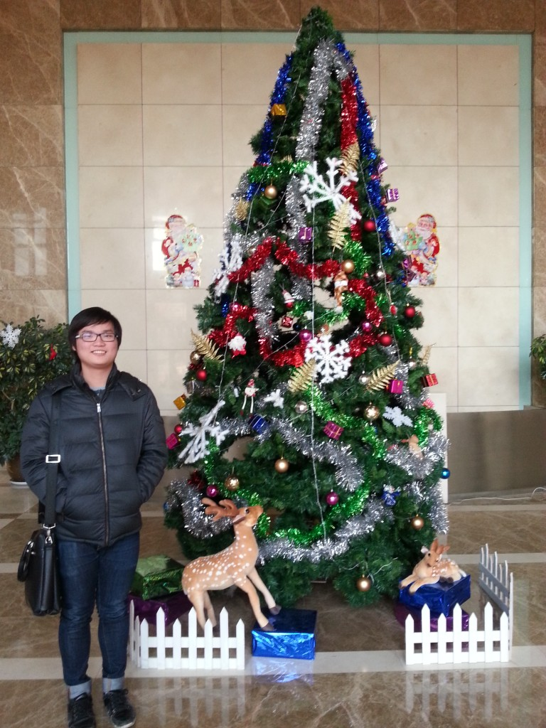 Nelson loving Christmas in China