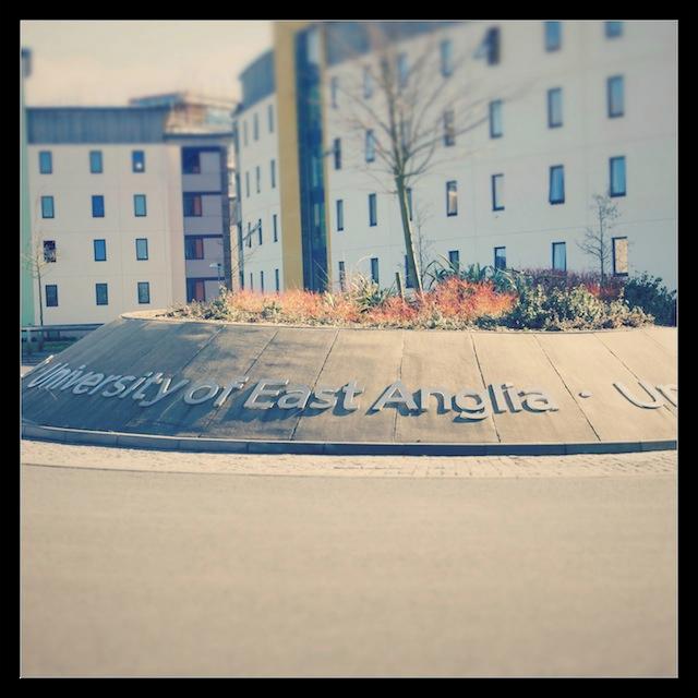 UEA's sunny campus