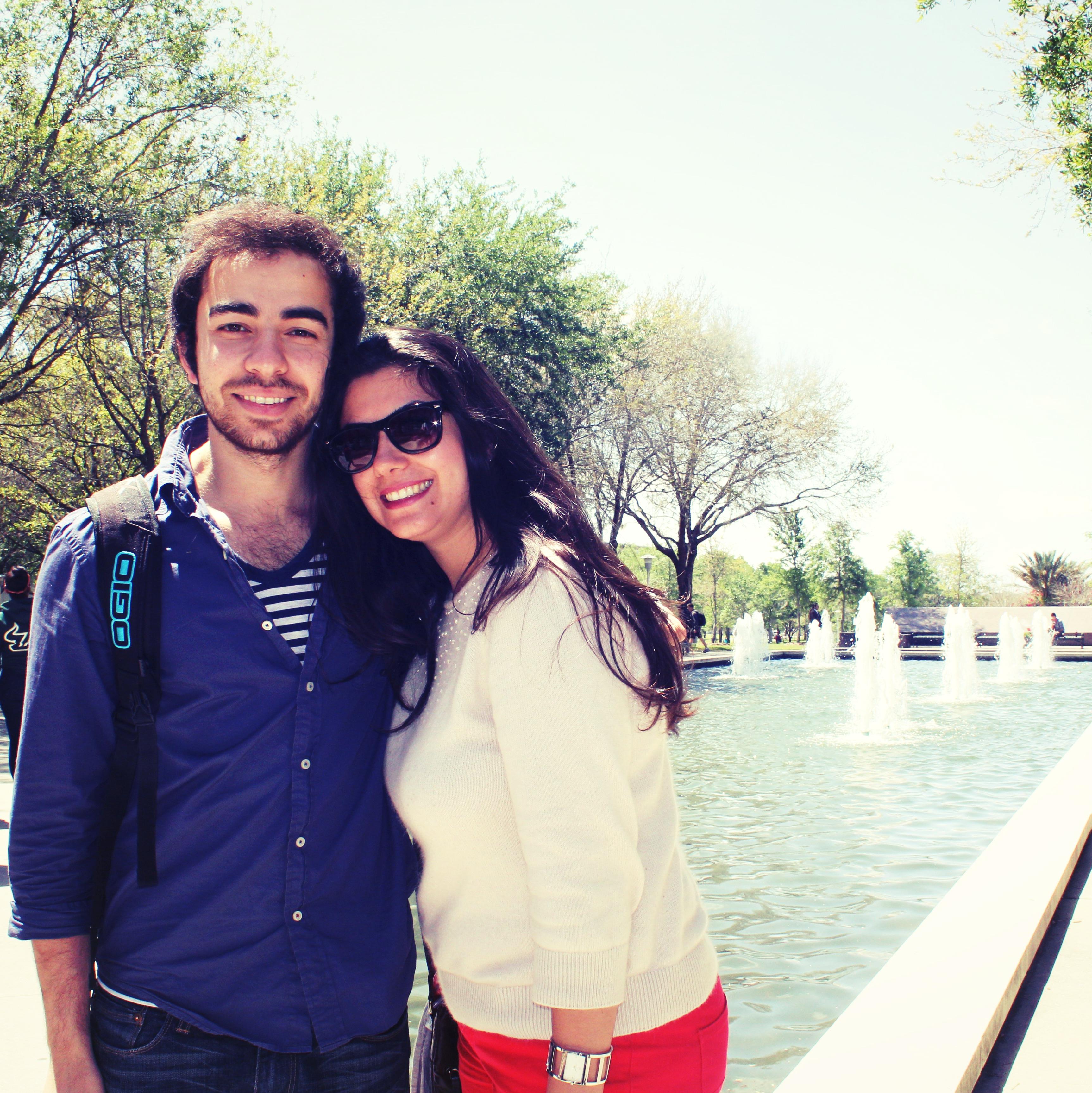 Sedat studying abroad