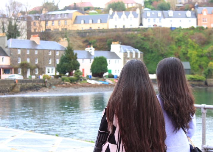 Two friends exploring Scotland