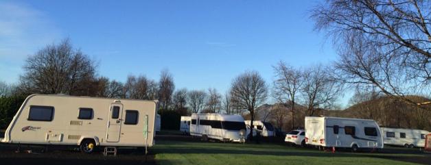 Caravan park in Scotland