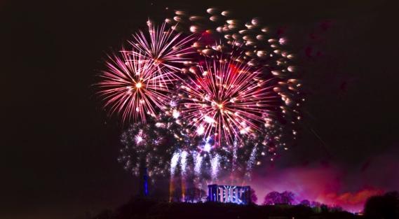 Fireworks in Scotland