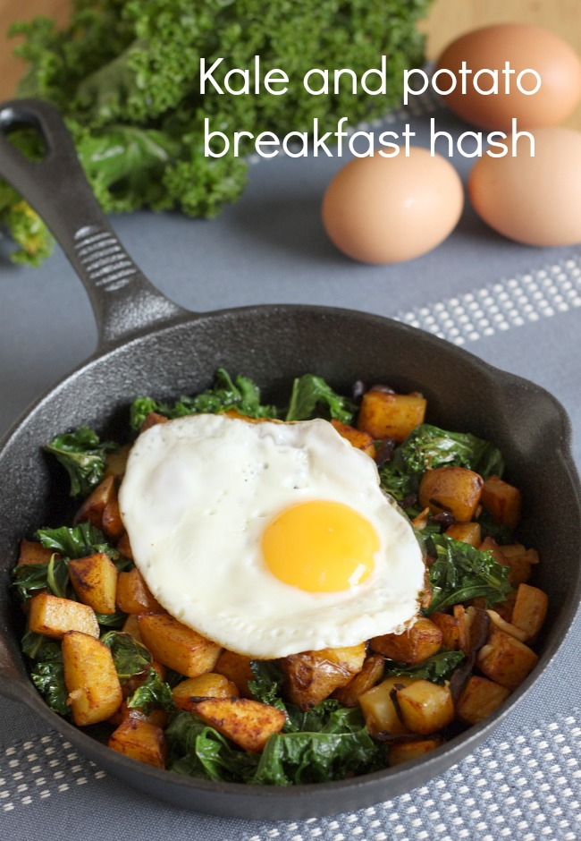 Eating for exam success | Kale & potato breakfast hash