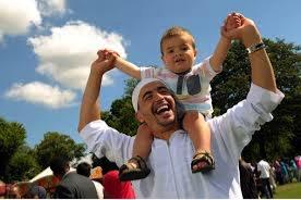 Family celebrating at Eid