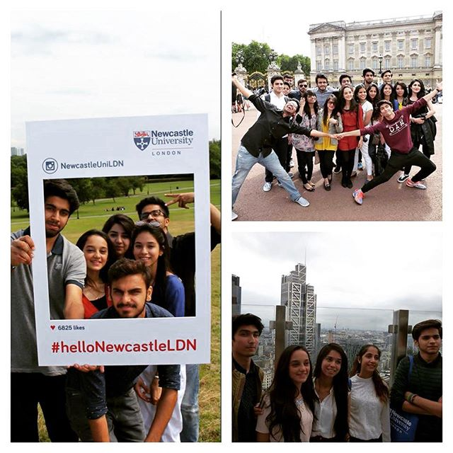 Students sightseeing in London