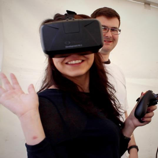 Wendy using Oculus Rift