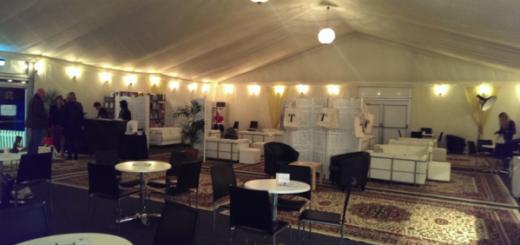 Backstage at the Cheltenham Literary Festival
