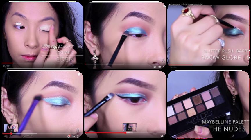 Screenshots of makeup tip vide