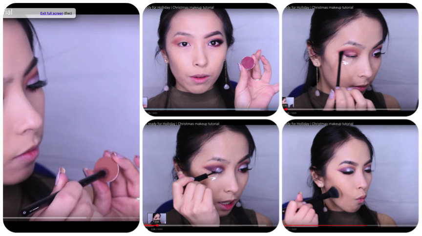 Shots from pearla's makeup tutorial