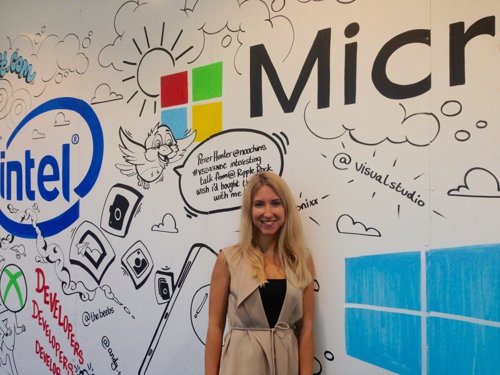 Stefaniia interning at Microsoft