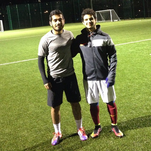 Studying abroad: Ali playing football