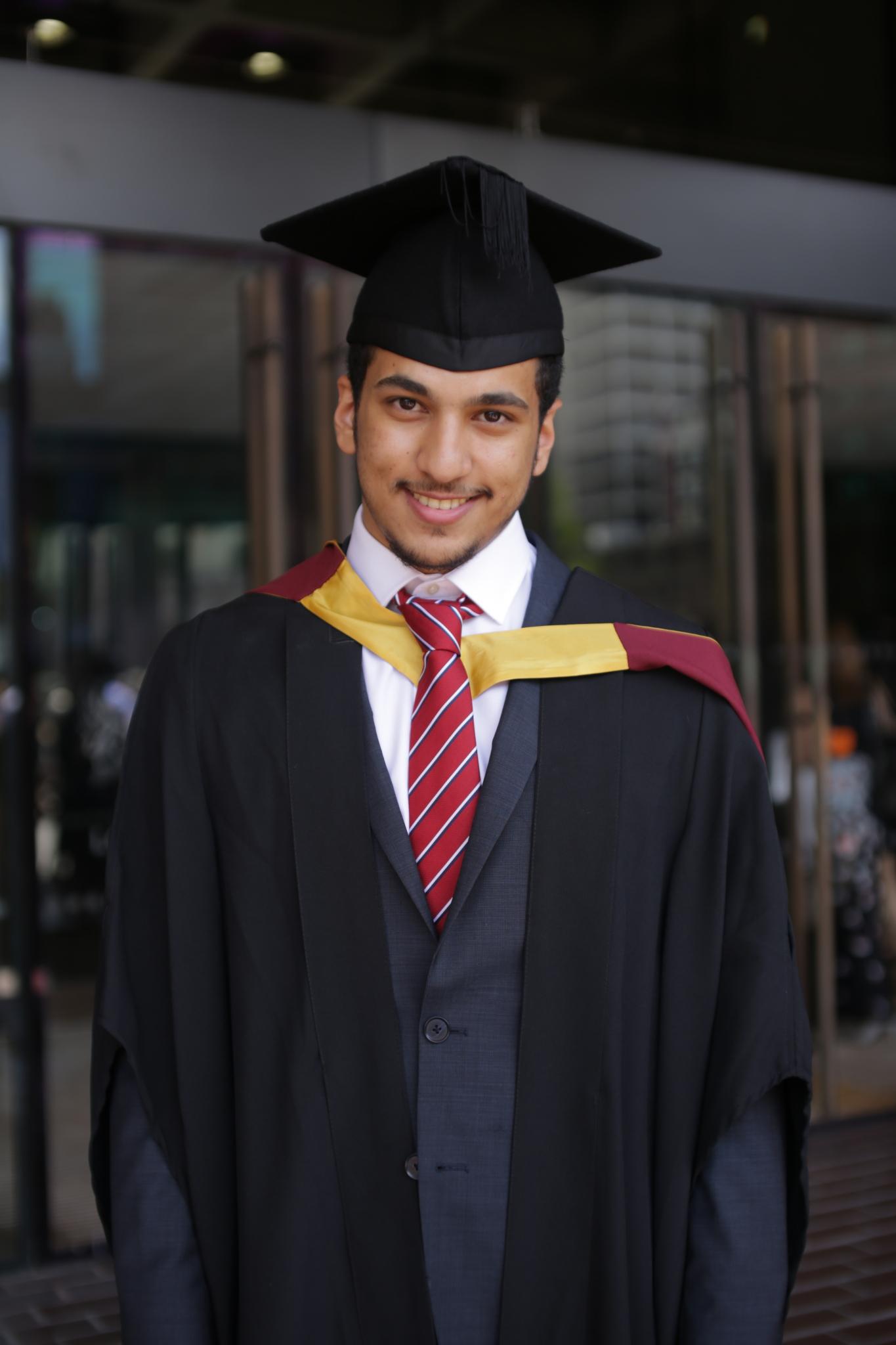 Ahmed Alabdali Graduating from City University London