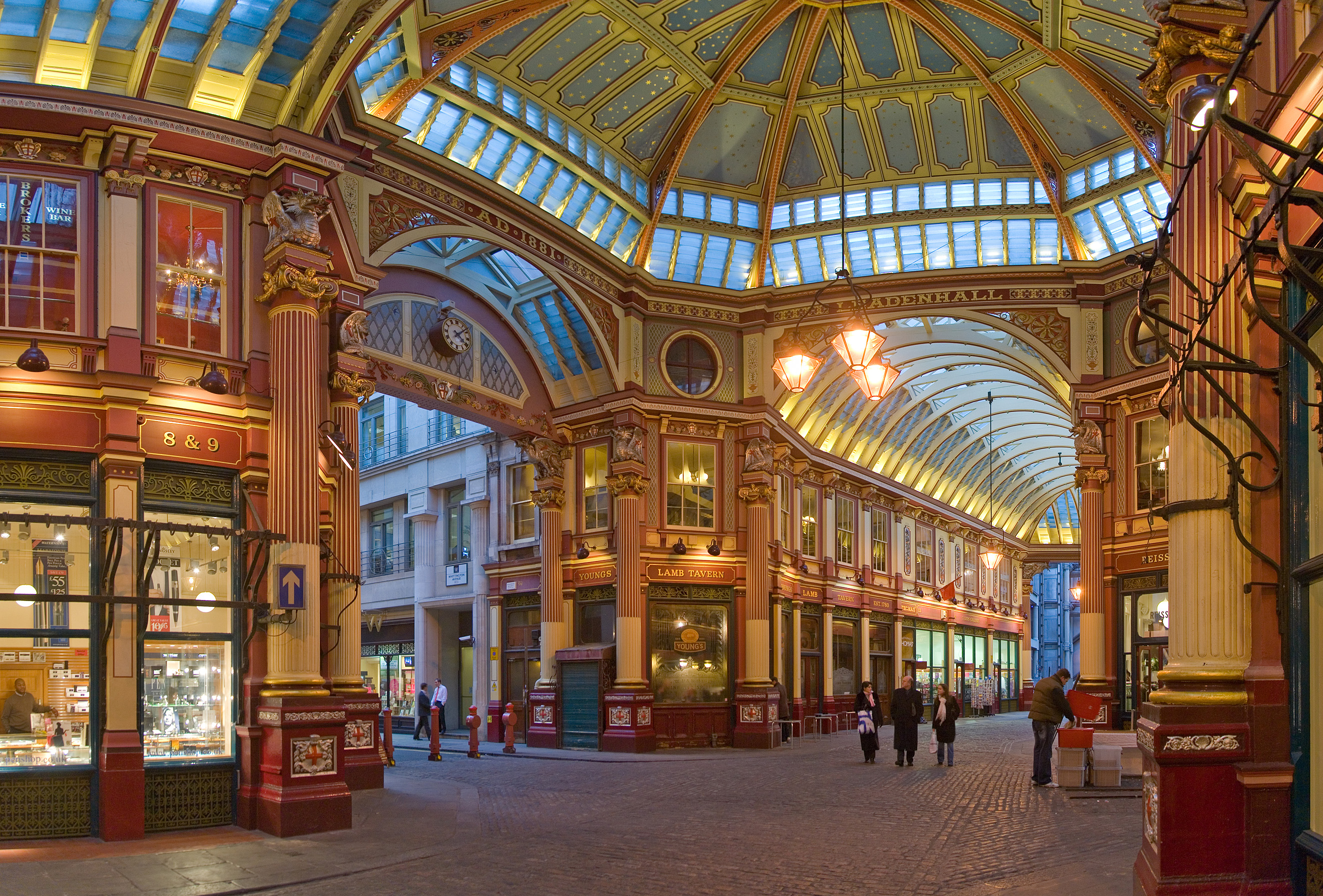 Leadenhall Market in East London