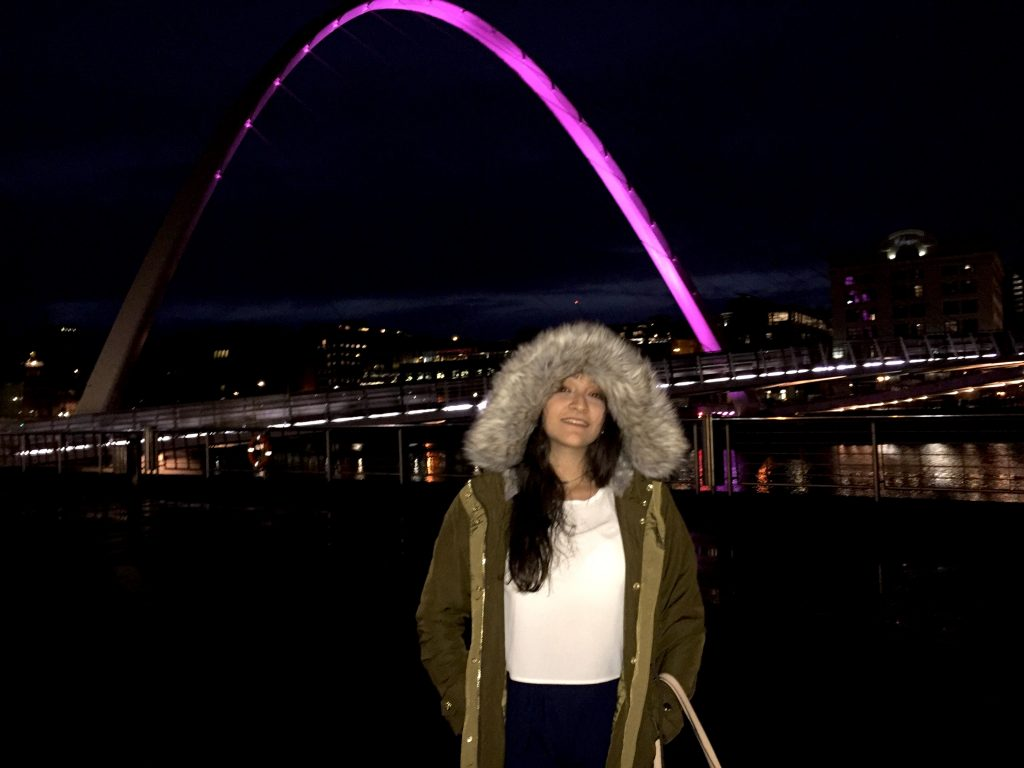 Natalie at the Quayside in Newcastle