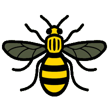 Manchester, a city of Science: Worker bee motto: Concilio et Labore. By Wisdom and Effort