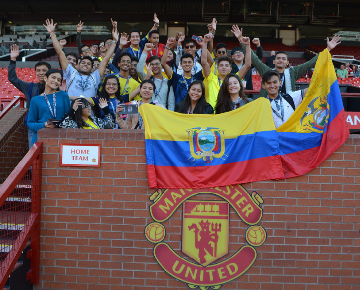 INTO Manchester students visit Old Trafford during their first week