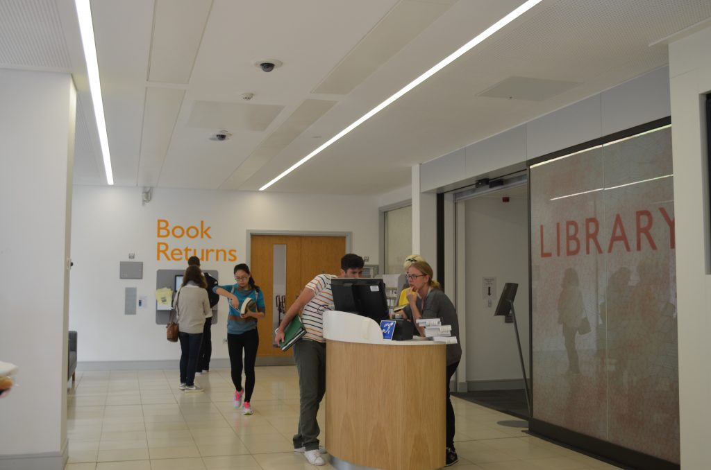 Entrance to The Forum Library | places to study