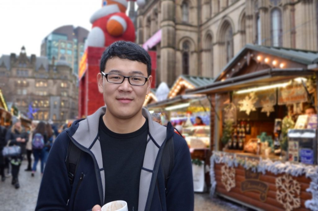 Charles at the Christmas Markets in Manchester