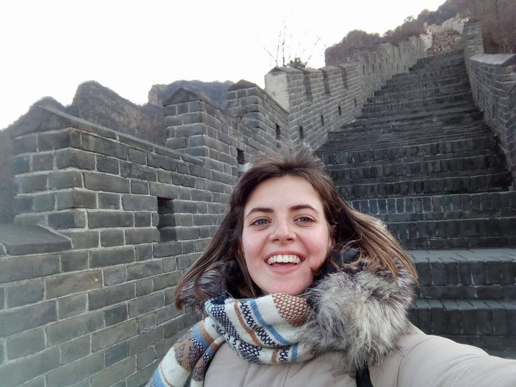 Valentine at the Great Wall. Chinese New Year for students in China
