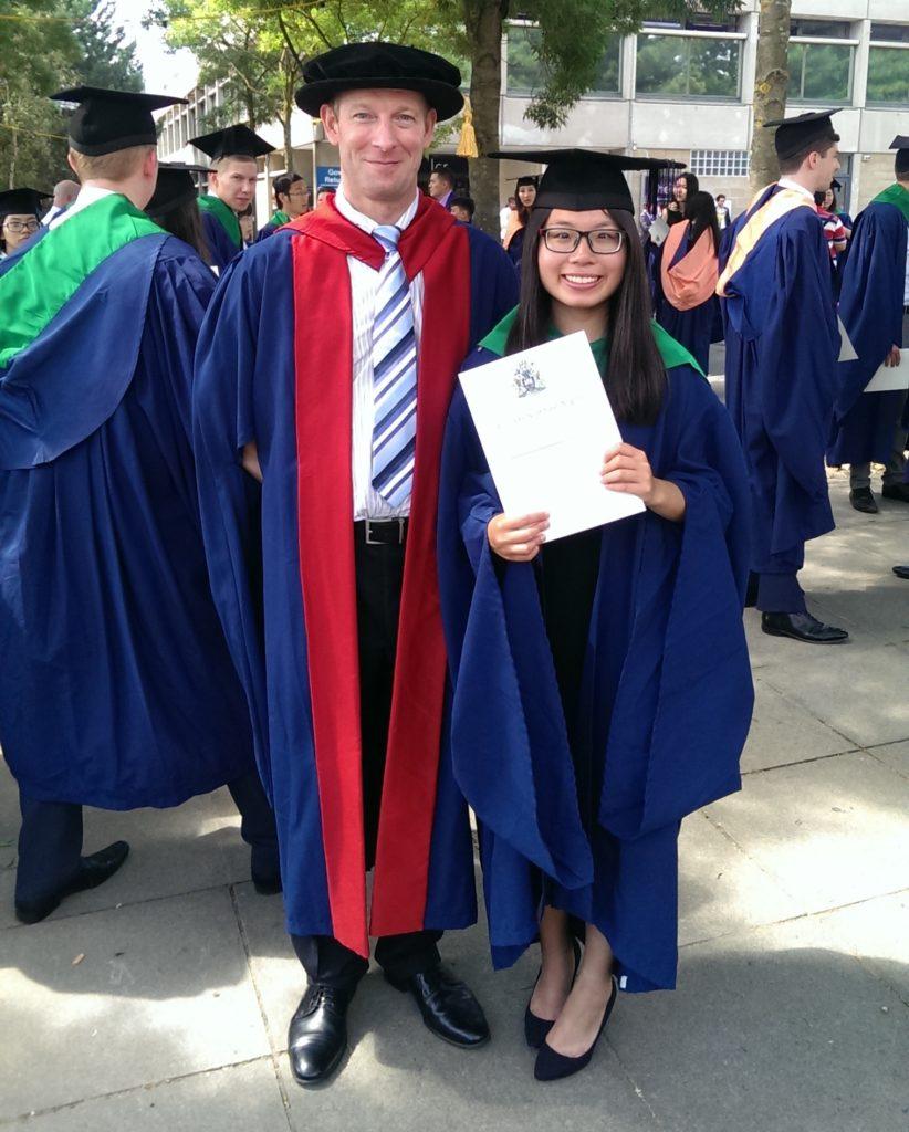 Alexa Le alumni student at her graduation