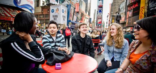Drew University students in New York