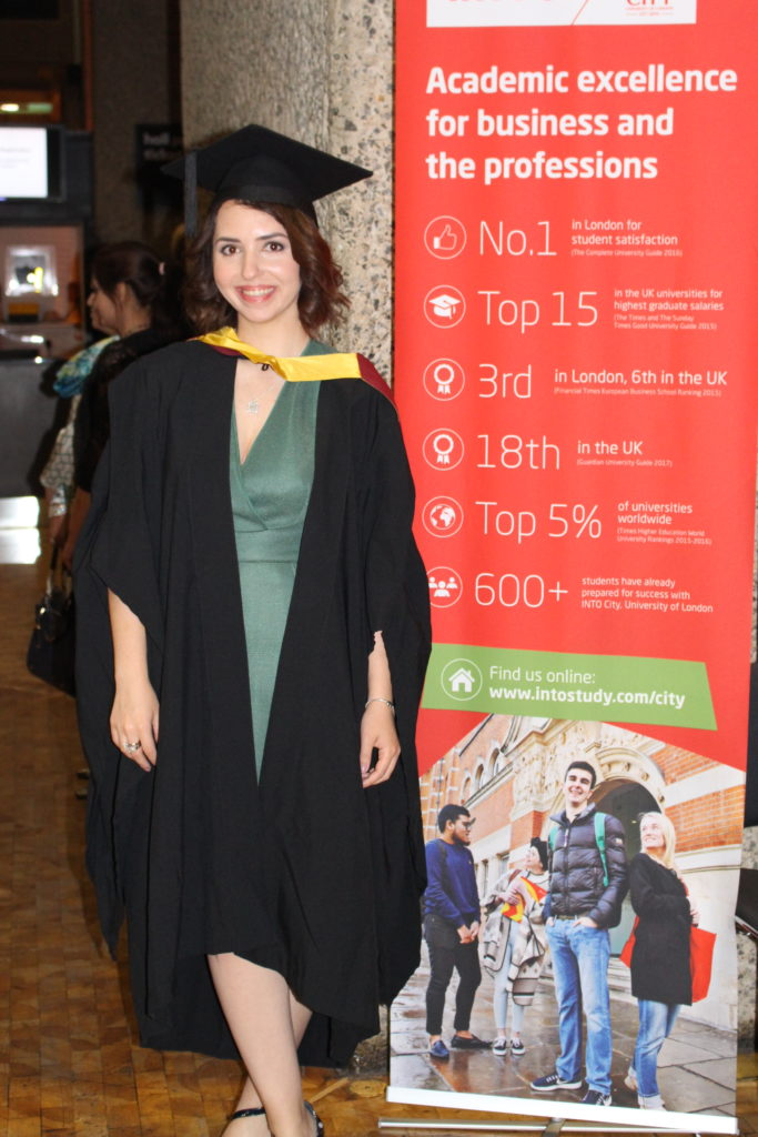 Sabina Graduation Photo City London University