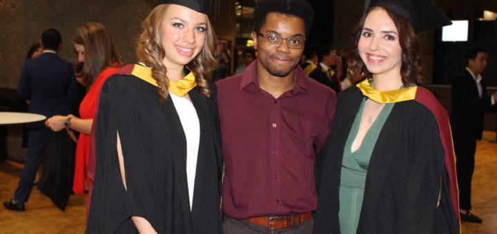 Sabina with friends at graduation City London University