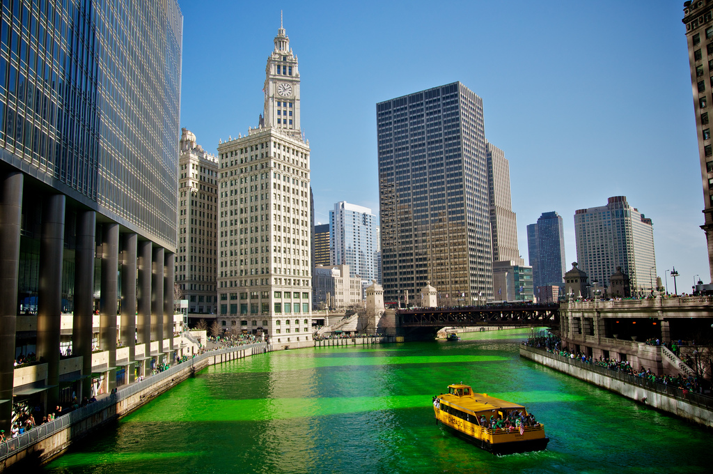 Things to do in the US - spend St. Patrick's Day in Chicago