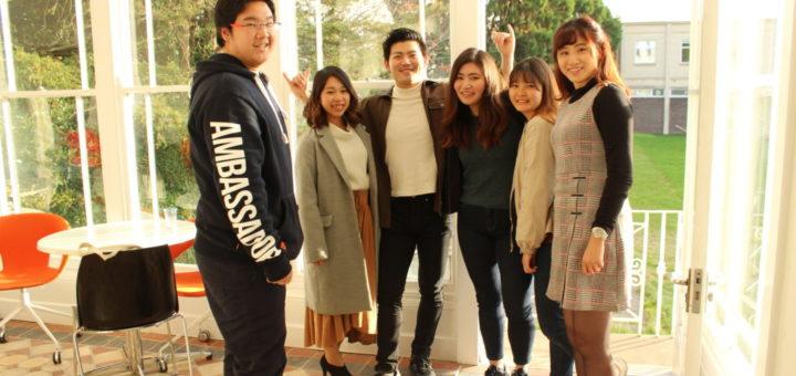 Student ambassador Rangga with students