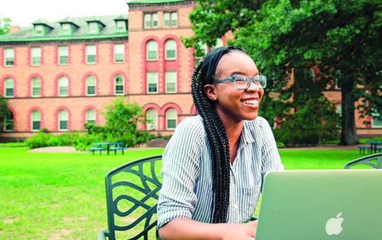 Drew student on campus