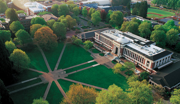 INTO OSU aerial view of the campus.
